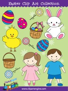 Easter Clip Art Pack - Personal and Commercial Use