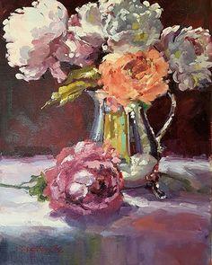 Erika Van Zyl Gallery of Original Fine Art Fine Art Gallery, Erika, Peonies, Van, Photo And Video, The Originals, Silver, Painting, Instagram