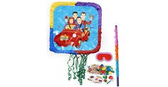 A Wiggles piñata kit pulls double duty as a fun party decoration and a fun party activity for guests of all ages. In addition to the usual candies, include some noisemakers, fun photo props and guitar bubble necklaces to encourage your guests to make beautiful music and add some pop to your little one's Wiggles birthday party celebration.  #WigglesParty