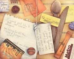 I just love her illustrations. I aspire to have a journal like hers someday.
