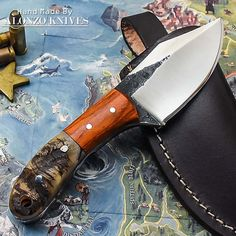 ALONZO KNIVES USA CUSTOM HANDMADE TACTICAL HUNTING 1095 KNIFE RAM HORN 2056 #AlonzoKnives