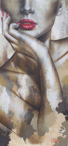 Acrylic painting by Sarah Fecteau Art Sketches, Art Drawings, Portrait Art, Face Art, Art Pictures, Painting & Drawing, Amazing Art, Watercolor Art, Pop Art