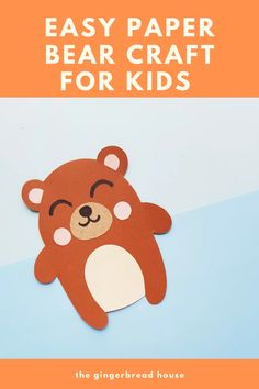 Paper bear craft for kids - the-gingerbread-house.co.uk