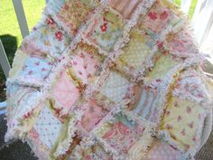 Rag Quilt  Dreamy Pastel Patches   Baby Toddler by PeppersAttic, $89.00