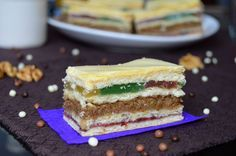 Prajitura cu rahat, nuci si gem | Miremirc | ... bucataria in imagini Vanilla Cake, Tiramisu, Cake Recipes, Biscuits, Cheesecake, Breakfast, Ethnic Recipes, Desserts, Gem