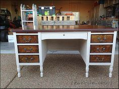 Goodwill Desk Makeover by Furniture-ology
