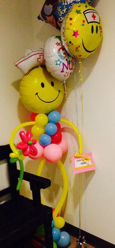 Happy Nurses Week!! . Balloon Display by Elegance Manifested