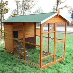 Walk In Chicken House good idea to have walk through door with high threshold so chooks