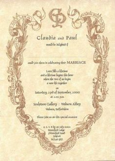 renaissance wedding invitations | medieval wedding invitation, Wedding invitations
