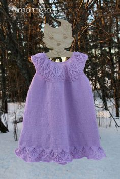knitted girls dress, Ruth Maddock Meredith Dress