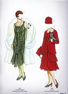 Great Fashion Designs of the Twenties | Gabi's Paper Dolls