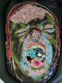 Her secret garden - Hannalie Taute Embroidery on rubber