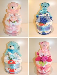 New in today cute teddy nappy cakes for girls and boys - http://www.ebay.co.uk/itm/Baby-boy-girl-nappy-cake-baby-shower-maternity-gift-blue-pink-christening-/191674378715?ssPageName=STRK:MESE:IT
