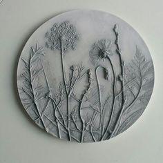 Wanddeko - Blumenwiese, Geschenk, Wanddeco - ein Designerstück von Lena_Bauer_ bei DaWanda