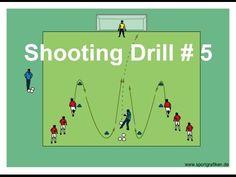 Soccer Ball Shooting Drills For Coaches - YouTube Soccer Shooting Drills, Soccer Dribbling Drills, Soccer Training Drills, Soccer Workouts, Football Drills, Soccer Coaching, Youth Soccer, Soccer Games, Soccer Ball