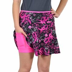 BeTheFinish SwingStyle 2.0 This American-made running skirt features The Donna logo running breast cancer awareness ribbon. It has bright pink anti-ride undershorts attached, plus THREE huge pockets for all your running gear. $10 gets donated to The Donna Foundation to help women with breast cancer.
