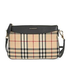 b92b1326a203 Burberry Women s Horseferry Check Peyton Clutch Bag Beige + Black   Affiliate Gucci Handbags