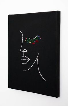 Herb Embroidery, Abstract Embroidery, Flower Painting Canvas, Thread Painting, Mini Canvas Art, Canvas Wall Art, Kanvas Art, 3d Art Drawing, Collage Book