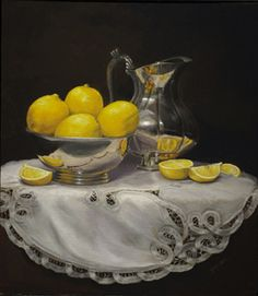 """One of the three entries at the Bosque Art Classic """"Silver and Lemons"""""""