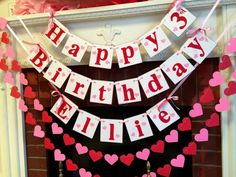 Is your loved one celebrating a Valentines Birthday? This is a super cute Birthday banner and garland set to add to the festivities! Works