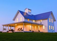 Simple, iconic and beautiful. Tradtional farmhouse design, LEED certified. Architect: Rehkamp Larson. Make sure you click through to see the interior spaces!