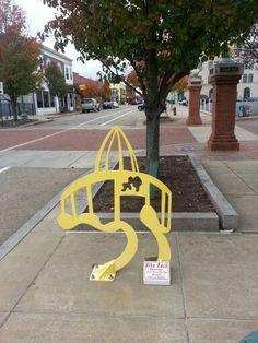 Bike rack off of Market Ave downtown Bike Rack, My Town, Ohio, Columbus Ohio, Bike Storage Rack, Bicycle Rack