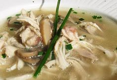 """""""Skinny"""" Chicken Soup Recipe by Jackie Cameron Healthy Dishes, Healthy Food, Healthy Eating, Healthy Recipes, Skinny Chicken, Chicken Soup Recipes, Soup And Salad, Soups And Stews, Feel Better"""