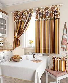 Комплект штор «Абель» коричневого цвета