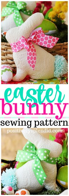 FREE Stuffed Easter Bunny Sewing Pattern