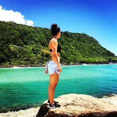 LJ Chambray Run Shorts + an epic view