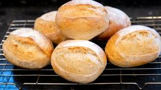 Crusty Bread Rolls (the best) - YouTube Pizza Pastry, Pizza Dough, Rolled Sandwiches, Bread Recipes, Cooking Recipes, Tea Loaf, How To Make Bread, Bread Making, Bread Cake