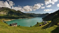 Emerald france chalets clouds forests (1600x900, france, chalets, clouds, forests)  via www.allwallpaper.in