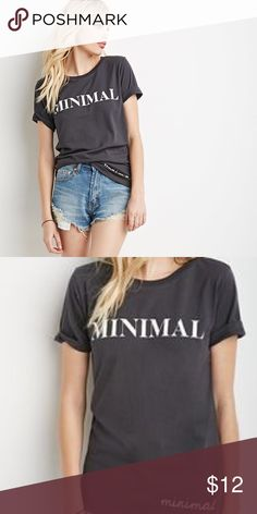 Graphic tee Worn once! In perfect condition! Very soft material! Forever 21 Tops Tees - Short Sleeve