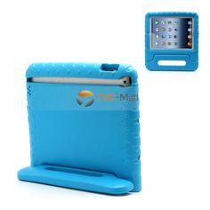 Portable Kids Eco-friendly EVA Foam Case Shell with Handle & Stand for iPad 2 / 3 / 4 - Blue