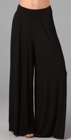 Black Palazzo Pants!!! - I'm living in these things right now. The most comfy and versatile thing in my closet.