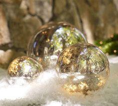 Fake mercury glass globes