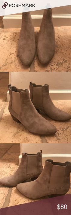 Sam Edelman Reesa Chelsea Boot Sam Edelman suede booties. Only worn once with elastic ankle opening, pointed toe, and two inch heel. Sam Edelman Shoes Ankle Boots & Booties