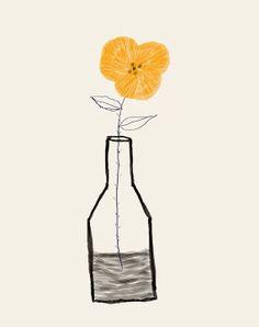 AshleyG illustration print with flowers  Sending You by ashleyg, $20.00