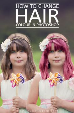 How To Change Hair Colour In Photoshop | Free Quick Photoshop Video Tutorials | Focus Wednesdays | Floating Lights Photography | #howto, #change, #hair, #colour, #free, #quick, #photoshop, #video, #tutorials