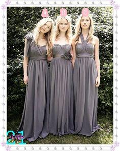 Bridesmaid DressGrey Bridesmaid Dress  Long Bridesmaid by 214EVER, $98.99