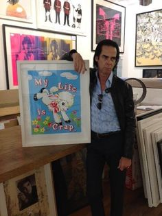 Nick Cave art shopping in Brighton. no comment.