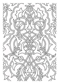 Free coloring page «coloring-patterns-medievaux». Medieval tapestry pattern, which can serve as an inspiration or for a simple coloring