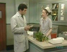 Tom checks in with the desk nurse, 1975: