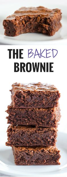 The Baked Brownie! Totally famous and for good reason – they are rich, dense, fudge-like brownies; you'll never need another brownie recipe!