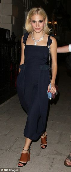 6ad5cefc3f3 Pixie Lott turns heads in culotte jumpsuit