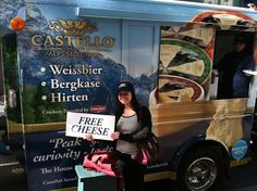 At the Castello Cheese Truck. Thanks for the cheese!