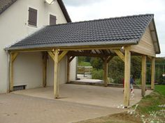 Etienne Marteaux - Constructions bois - Je suis un particulier Carport Patio, Carport Plans, Carport Garage, Carport Ideas, Carport Prices, Building A Carport, Building A Porch, Design Garage, Carport Designs