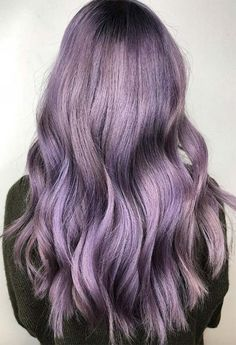 59 Lovely Lavender Hair Color Shades & Dye Tips - Hair Trends Pastel Lavender Hair, Silver Lavender Hair, Rose Gold Hair Dye, Pastel Hair, Silver Hair, Purple Hair, Purple Roses, Black Roses, Pastel Purple