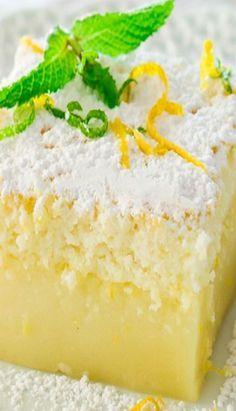 Lemon Magic Cake-going to try with gf flour-i'm craving lemon!