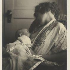 Mother Breast-feeding her Baby, by Louis Fleckenstein, c. 1900.  Platinum print, 301 x 251 mm. Amsterdam, Rijksmuseum.